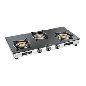 Sunflame DIAMOND 3 Burners Stainless Steel Gas Stove - Assorted