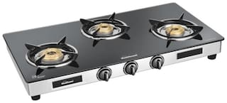 Sunflame Diamond 3 Burner Regular Assorted Gas Stove ,