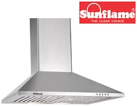 Sunflame Wall Mounted 60 cm 700 m3/h Silver Chimney