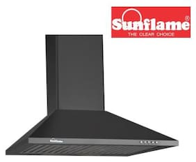 Sunflame Wall Mounted 60 cm 700 m3/h Black Chimney