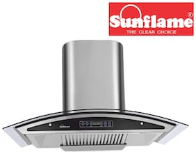 Sunflame Innova Dx 60cm 1230 m3h Dry Auto Clean Stainless Steel Chimney