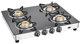 Sunflame Regal Ss 4 Burner Regular Black Gas Stove ,