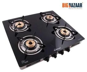 Sunflame 4 Burners Gas Stove - Black , Auto Ignition