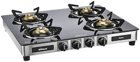Sunflame 4 Burner Manual Regular Black Gas Stove