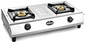 Sunflame Shakti SS 2 Burner Regular Silver Gas Stove , ISI Certified