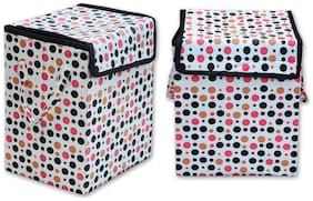 Super India Waterproof Foldable Washing Clothes Laundry Basket Bag Hamper Bin Storage Box With Closing Head/hard Cardboard Base Inside With Outer Plastic Paper Colorful Sheet (big Size) Rectangular