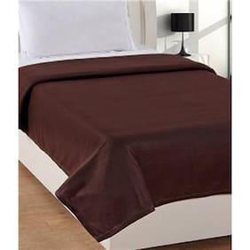 Super India Polar Fleece Brown Single Bed Blanket