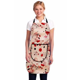 Super India Waterproof Kitchen Apron with Front Pocket