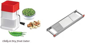 Super kitchen combo with Stainless Steel Vegetable Grater and Slicer with Sharp Blade 2 In 1 Vegetable Slicer