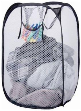 MARKETON Cotton Assorted Laundry Basket ( Set of 1 )