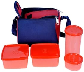 SUPERTEXON 4 Containers Plastic Lunch Box - Assorted