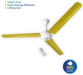 SUPERFAN Super V1 1400 mm Premium Ceiling Fan ( Yellow , Pack of 1 )