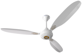 SUPERFAN Super X1 Deco Bubble 1200 Mm Ceiling Fan of 5 Star Rated with BLDC Motor and Remote Control (White)