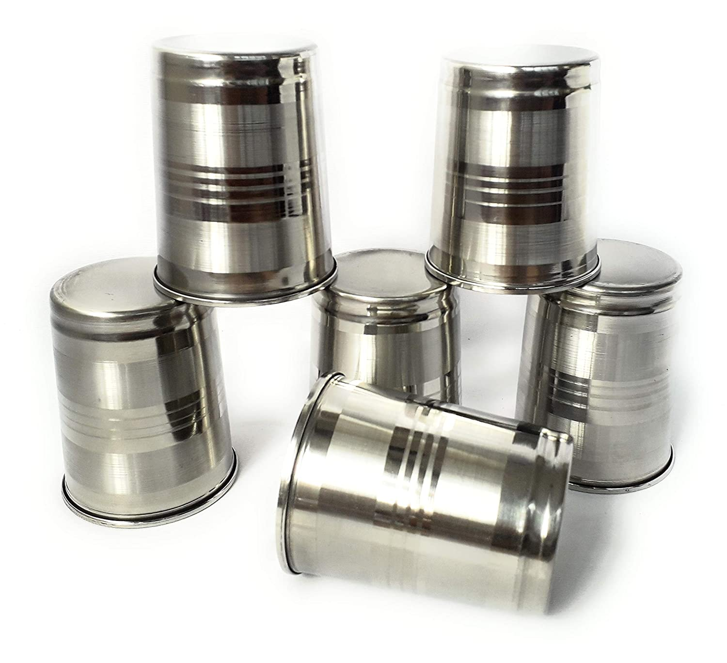 Stainless Steel Glass sets 250 ML  Set of 6