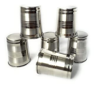 Stainless Steel Glass sets 250 ML (Set of 6)
