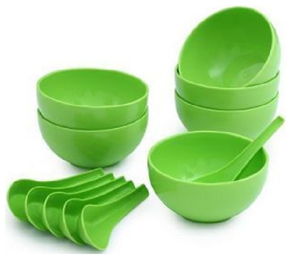 SOUP bowl set of 12  6 spoon   6 bowl