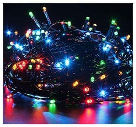 SUPREMACY Outdoor LED Fairy String Lights with Multi Mode Remote for Diwali, Christmas, Party,Decoration (Multicolor, 15 m)