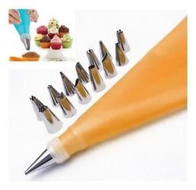Supreme 12pcs/Set Flower Icing Nozzles Cream Pastry Bag Cake Decoration Baking Tools