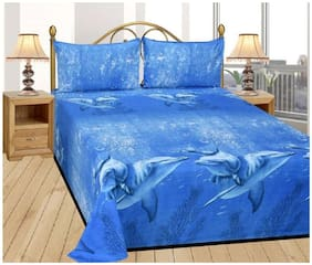 Supreme Home Collective Microfiber 1 Double Bed-sheet with 2 Pillow covers