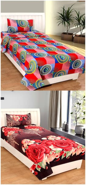 Supreme Home Collective 2 Single Bed-sheets with 2 Pillow Covers