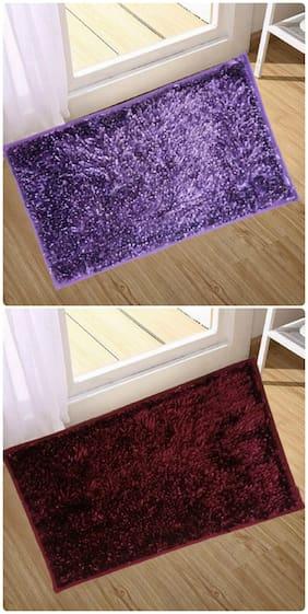 Supreme Home Collective  Microfiber Door Mat  (Purple, Maroon)