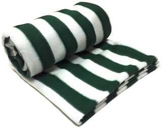 Supreme Home Collective (Double) Green Polar Blanket For AC Room, Traveling Purpose