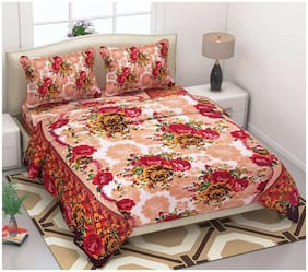 Supreme Home Collective Floral 1 Double Bed-sheet with 2 Pillow Covers
