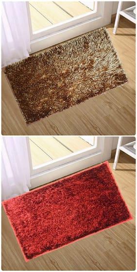 Supreme Home Collective  Microfiber Door Mat  (Brown, Red)
