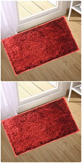 Supreme Home Collective  Microfiber Door Mat  (Red, Red)