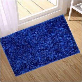 Supreme Home Collective Microfiber Door, Floor Mat Blue