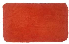 Supreme Home Collective 100% Cotton Plain Soft BathMat-Orange