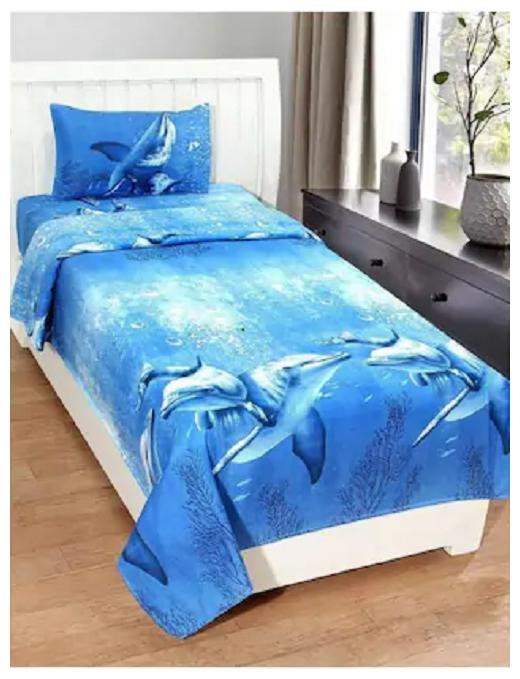 Supreme Home Collective Animal 1 Single Bed-sheet with 1 Pillow Cover