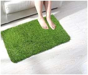 Supreme Home Collective Polypropylene Beautiful Grass Bath, Door, Floor Mat ( Pack of 1)