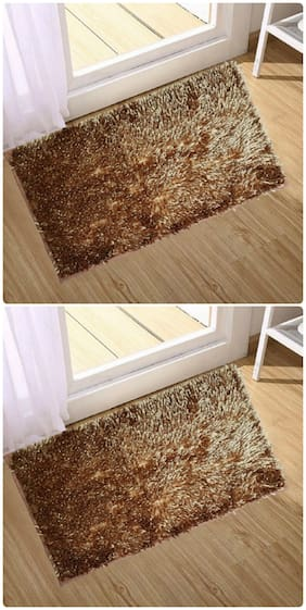 Supreme Home Collective  Microfiber Door Mat  (Brown)