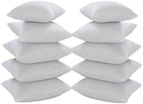 Supreme Home Collective Plain Fiber Filler Cushion Pillow 16x16 inch ( Set of 10 )