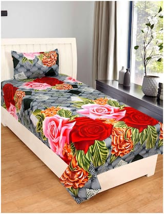 Supreme Home Collective 1 Single Bed-sheet with 1 Pillow Cover