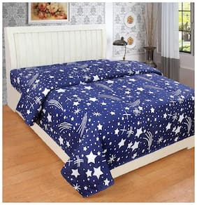 Supreme Home Collective Microfiber Kids Single Bedsheet ( 1 Bedsheet without Pillow Cover , Blue )