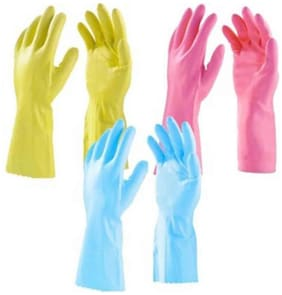 Surf Multi Rubber Hand Gloves - Set of 3