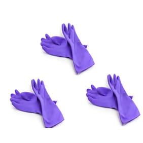 Surf Purple Rubber Hand Gloves- Set of 3