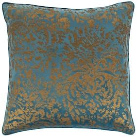 Surya CRI001-1818 Carrisa 18 X 18 inch Bright Blue/Metallic - Gold Pillow Cover