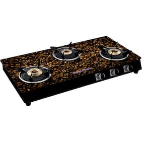 Surya Flame 3 Burners Gas Stove - Brown