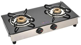 Surya Flame 2 Burners Gas Stove - Black