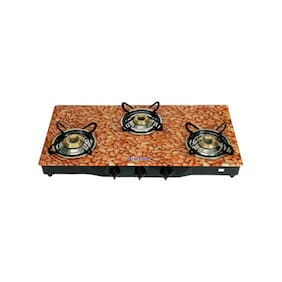 Surya Flame 3 Burners Gas Stove - Black