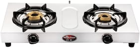 Surya Flame Sleek Stainless steel 2 Burner Regular Silver Gas Stove ,