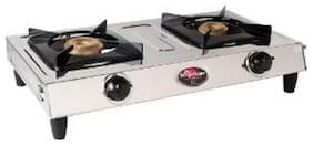 Surya Flame 2 Burners Stainless Steel Gas Stove - Silver