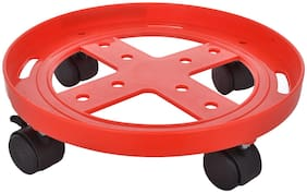 Suryaflame LPG Gas Cylinder Trolley with Wheels | LPG Cylinder Stand - Plastic