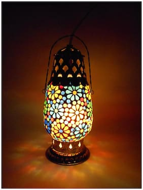 Susajjit Graceful Table Lamp of Mosaic art handcrafted Beautiful Night Lamp Hanging Lantern for Home & Office Decoration