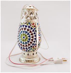 Susajjit Vintage Look Marvelous Art work Decorative Showpiece Night Lamp/Table Lamp/ Hanging Lantern for Indoor/Outdoor Decoration