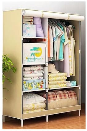 svk dream Wardrobe Organizer, Storage Rack for Kids and Women, Clothes Cabinet, Bedroom Organizer Colour & Pattern as Image