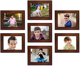 Swadesi Stuff Mdf with melamine Brown Collage picture frame ( Set of 1 )